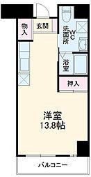サンロワール和泉砂川 5階ワンルームの間取り
