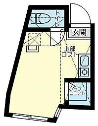 ユナイト上星川バイラモス 1階ワンルームの間取り