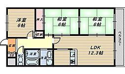 カナート浅香[2階]の間取り