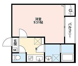 T.A江戸川区中葛西7丁目 1階1Kの間取り