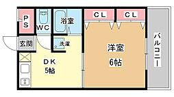 コア千代鶴[1階]の間取り