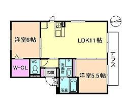 D・セジュール[2階]の間取り