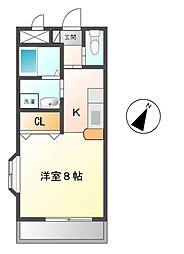 愛知県豊田市越戸町神ノ木丁目の賃貸アパートの間取り