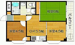第2カメリアビル大澤[3階]の間取り