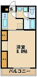 リブリ・Pasture ~パスチャー~ 2階1Kの間取り