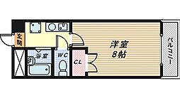 北長尾倶楽部[3階]の間取り