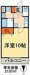 JR京葉線 稲毛海岸駅 徒歩1分の賃貸マンション 5階1Kの間取り