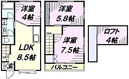 [テラスハウス] 東京都東村山市秋津町3丁目 の賃貸【/】の間取り