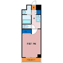 埼玉県三郷市中央1丁目の賃貸マンションの間取り