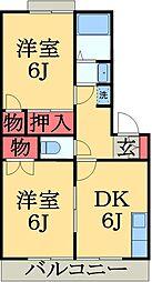 千葉県千葉市中央区川戸町の賃貸アパートの間取り