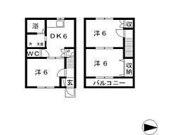 [テラスハウス] 岡山県倉敷市玉島長尾 の賃貸【/】の間取り
