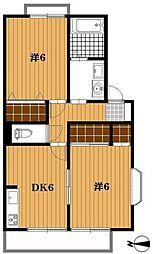 千葉県船橋市習志野台4丁目の賃貸アパートの間取り