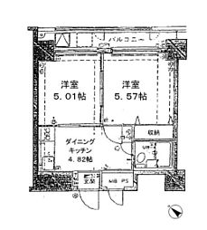 アズール上野[5階]の間取り