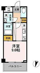 JR横須賀線 武蔵小杉駅 徒歩3分の賃貸マンション 3階1Kの間取り