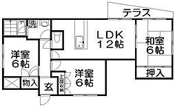 オオシマフラッツインパル[1階]の間取り