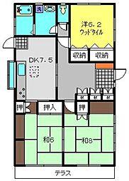上菅田町貸家[101号室]の間取り