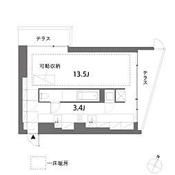 treform(トレフォルム)[1階]の間取り