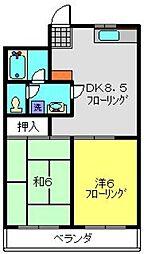 レジデンス・デュー[309号室]の間取り