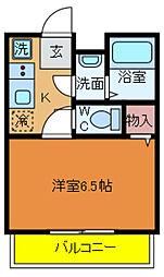 千葉県柏市かやの町の賃貸アパートの間取り