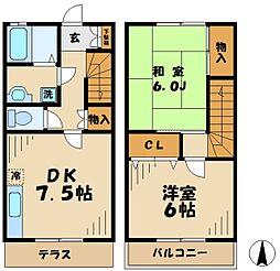 [テラスハウス] 神奈川県川崎市麻生区栗木 の賃貸【/】の間取り