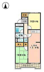 愛知県名古屋市名東区亀の井2丁目の賃貸マンションの間取り