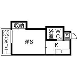 プレアール七隈[307号室]の間取り