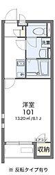 JR常磐線 我孫子駅 徒歩10分の賃貸アパート 2階1Kの間取り