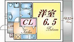パロス須磨戸政町[1階]の間取り