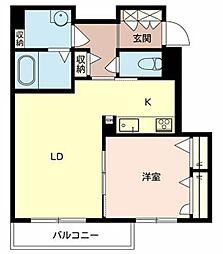 シャーメゾン橘[2階]の間取り