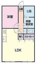 長野県安曇野市豊科の賃貸マンションの間取り