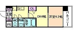 Osaka Metro長堀鶴見緑地線 京橋駅 徒歩2分の賃貸マンション 9階1DKの間取り