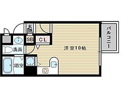 シャトレ上新庄[2階]の間取り