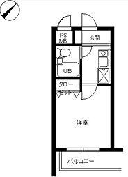 スカイコート宮崎台第4[2階]の間取り