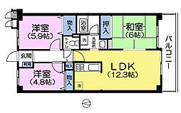 都民住宅ガーデンピア成増[3階]の間取り