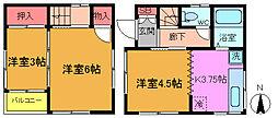 [一戸建] 千葉県市川市稲越町 の賃貸【/】の間取り