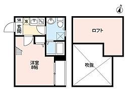 ボナール箱崎駅東[203-0号室]の間取り