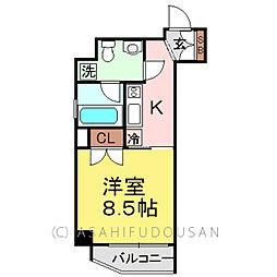 ニューシティアパートメンツ蔵前[8階]の間取り