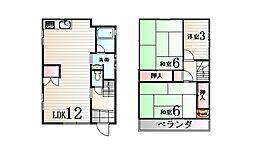 [一戸建] 兵庫県神戸市北区西大池2丁目 の賃貸【/】の間取り