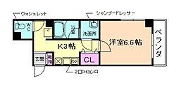 大阪府池田市新町の賃貸マンションの間取り
