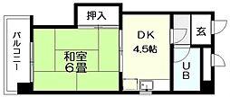 レジデンス桜ヶ丘[105号室]の間取り