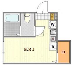 京王井の頭線 井の頭公園駅 徒歩5分の賃貸アパート 1階ワンルームの間取り