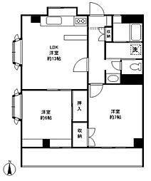 エクセルハイム駒沢[306号室]の間取り