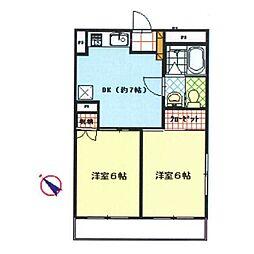 神奈川県茅ヶ崎市浜竹1丁目の賃貸マンションの間取り
