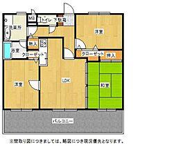 ライオンズマンション井尻東[402号室]の間取り