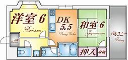 兵庫県神戸市兵庫区菊水町8丁目の賃貸マンションの間取り
