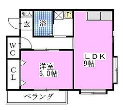 ハイブリッジマンション2[302号室]の間取り