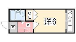 兵庫県姫路市飾西台の賃貸アパートの間取り