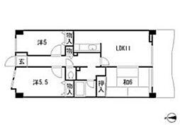 シェニートモンチーク武蔵関[4階]の間取り