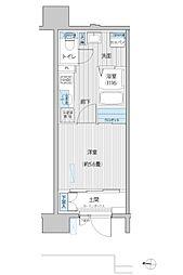 JR南武線 武蔵新城駅 徒歩6分の賃貸マンション 1階1Kの間取り