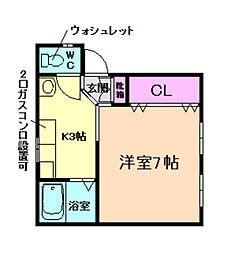 永田マンション[2階]の間取り